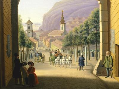Taban Gate in Budapest, Hungary 19th Century