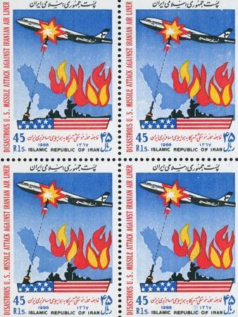 Anti-American Iranian Postage Stamps, Shooting Down an Aircraft