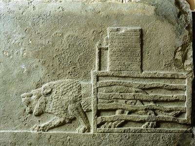 A Lion Being Freed from its Cage, Relief from Nineveh, Iraq