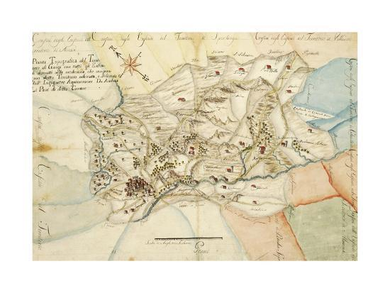 Map Of Gangi Area Palermo Italy Giclee Print At Allposters Com