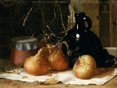 Onions, a Jug and a Ceramic Pot on a Tablecloth, 1896