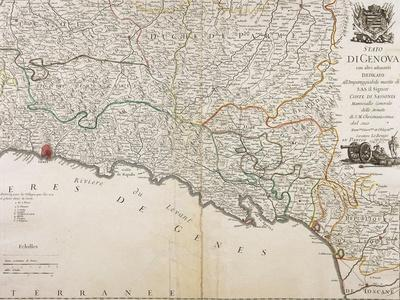 State of Genoa - Eastern Liguria Region, Map by George Louis Le Rouge, Paris