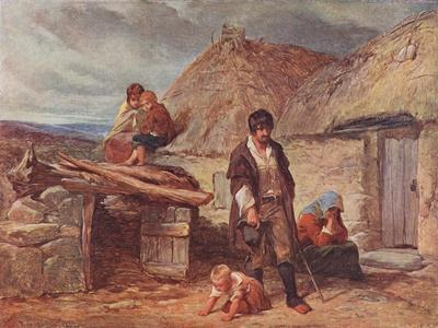 An Irish Eviction, Illustration from Cassell's 'Illustrated History of England', Published C.1910
