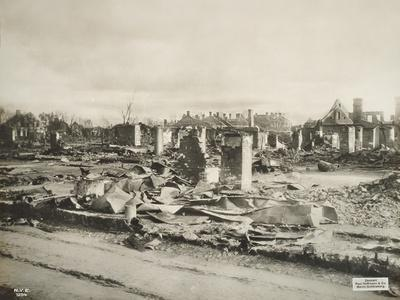 The Remains of Brest-Litovsk Following its Capture by the German Army, Between May-October 1915
