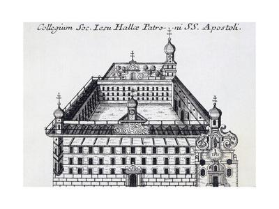 The Holy Apostles Boarding School in Halle, Ca 1725, Germany 18th Century