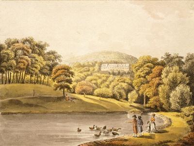 Pool Near Koblenz, Germany 18th Century Print