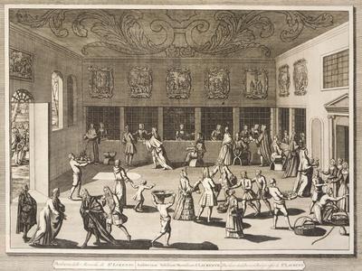 The Parlor of San Lorenzo Monastery in Venice, from Italia Illustrata, 1757, Italy