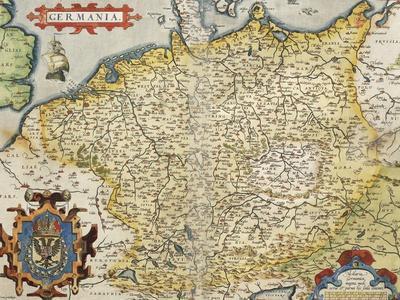 Map of Germany, from Theatrum Orbis Terrarum