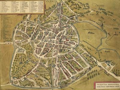 Vicenza from Civitates Orbis Terrarum