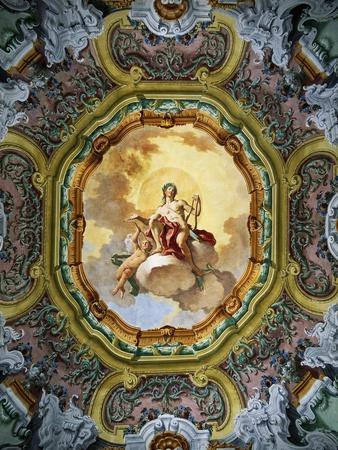 Frescoed Ceiling with Apollo as Central Figure