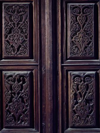 Wooden Door Frieze Detail, Church of Santa Maria Dell'Ammiraglio known as La Martorana, Italy