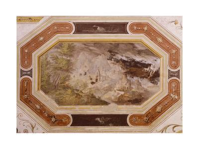 Frescoed Wall of Hall of Victory, Torrechiara Castle, Near Langhirano, Emilia-Romagna, Italy