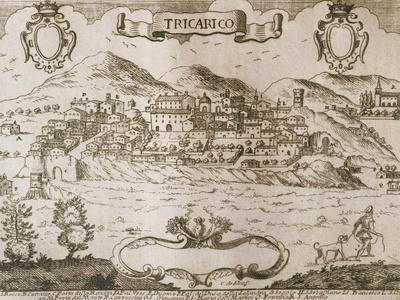 Map of Tricario, Matera