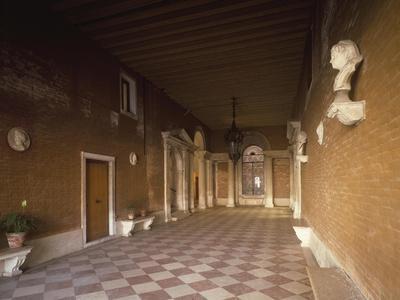 Atrium, Palazzo Corner Spinelli, Work by Michele Sammicheli, Venice, Italy, 15th-16th Century