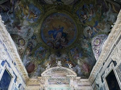 Ceiling Frescoes of Oratory of Immaculate Conception, San Remo, Liguria, Italy