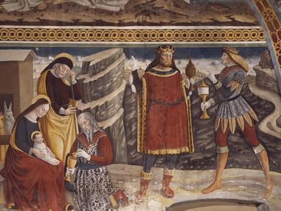 Adoration of the Magi, Detail of Fresco