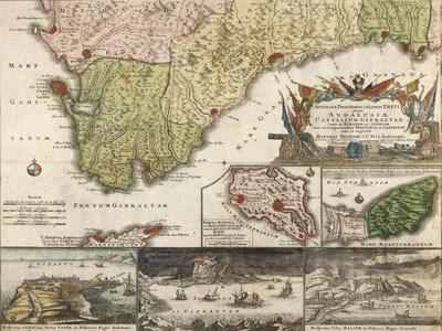 Map of Southern Spain and Andalusia