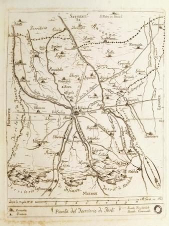 Map of Territory of Forli, 1822