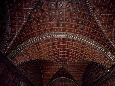 Glimpse of Ceiling with Intarsia