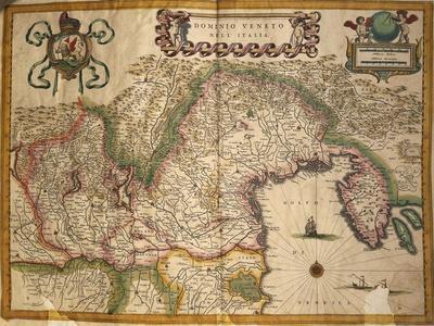 Map of Territory under Veneto Dominion, Italy, from Regionum Italiae