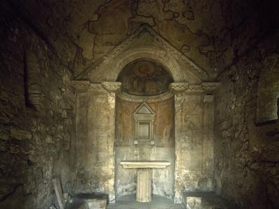 Glimpse of Temple of Clitunno, Campello Sul Clitunno