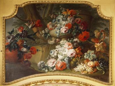 Decorative Panel with Floral Motifs, Stupinigi's Little Hunting Palace