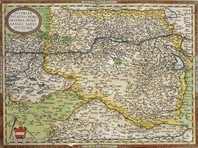 Map of Austria, from Theatrum Orbis Terrarum