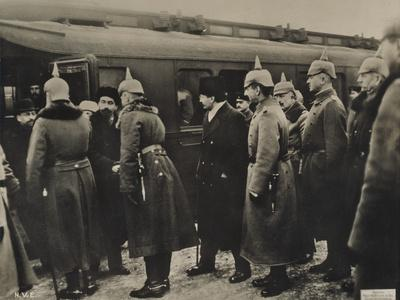 The Russian Delegation Arrives for the Peace Negotiations at Brest-Litovsk, 9 January 1918