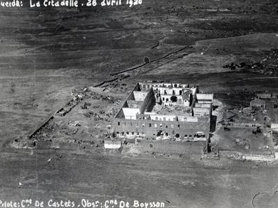 Aerial View of the Ruined Citadel of Al-Suwayda, Syria, 1926