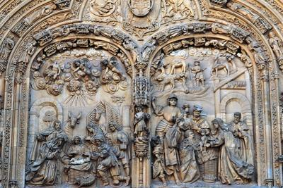 Nativity and Adoration of the Magi, Relief on the Entrance to the New Cathedral