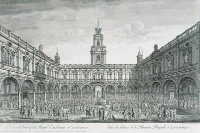 United Kingdom, England, London, View of the Stock Exchange Square
