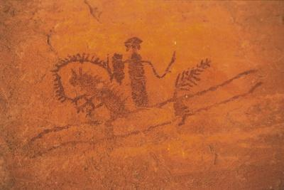 Chad, Ennedi Massif, Cave Paintings