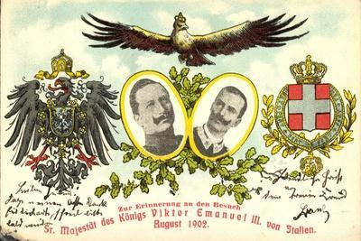 Kaiser Wilhelm II Mit König Viktor Emanuel III
