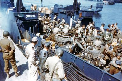 Soldiers of the 1st Infantry Division of the US Army Have Boarded the Landing Craft Transport