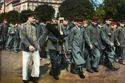 Belgian Prisoners of War Marched to Camp, 1915