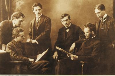 Bela Viktor Janos Bartok with His Colleague Zoltan Kodaly and the Hungarian Quartet