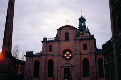 Facade of the Storkyrkan, Consecrated in 1306, Later Remodelled in 15th and 18th Centuries