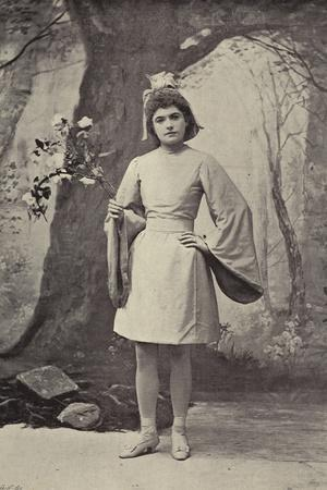 "Miss Jessie Huddleston, as Dewman, the Dawn Fairy, in ""Hansel and Gretel"""