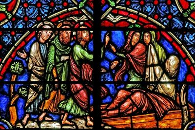 Window W4 Depicting the Resurrection of Lazarus