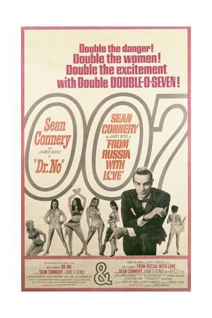Poster Advertising the Films 'Dr No' and 'From Russia with Love', 1977