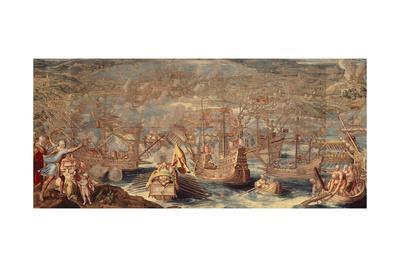 Naval Battle During Charles V's Expedition Against La Goletta and Tunis