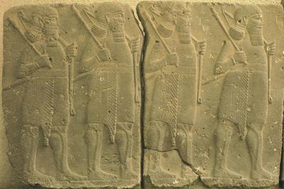 Assyrian Warriors on Parade, Relief from Arsllan Tash, Turkey