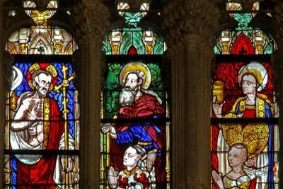 Window W137 Depicting St Mary Magdalene, Christ and St Anthony