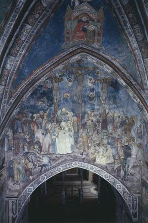 Italy, Subiaco, Sacro Speco Monastery, the Crucifixion