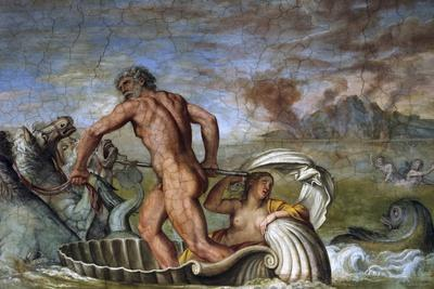 Poseidon and the Nereids in the Hall of Cupid and Psyche of Palazzo Odescalchi at Bassano Romano