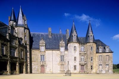 France, Pays De La Loire, Mesanger, Rocher Medieval Castle