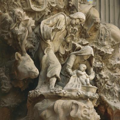 Detail from Temple of Charity Door in Sagrada Familia, Barcelona