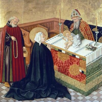 Presentation in Temple, Scene from Life of Virgin, Side Panel of King Albert's Altar