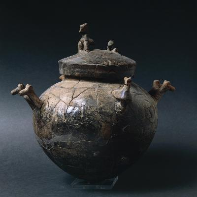 Four Handled Olla with Decorations