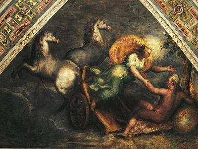 The Day, Cycle of Time Scene, from Filippi's Workshop, Ceiling of Aurora Hall